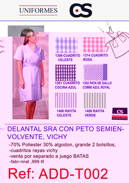 DELANTAL PET CDR/RY =BATA TLL
