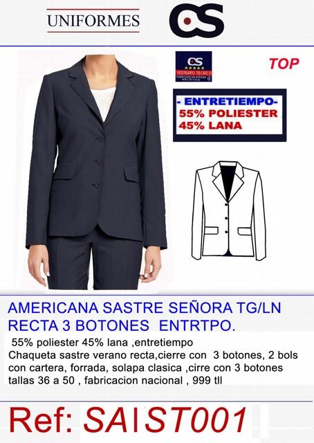 CHAQUETA SRA INVRNO TG/LA P480