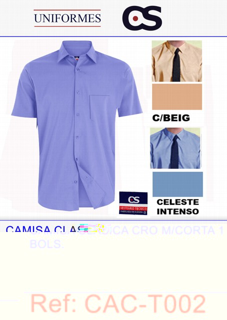CAMISA CL TK M/CORTA COLOR TLL