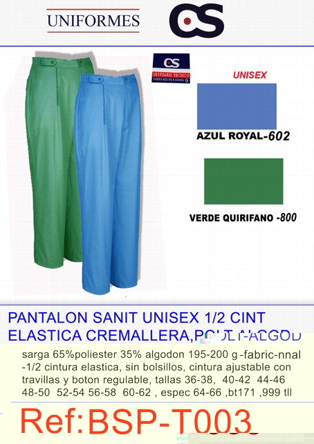 PANT SANIT SGA CRYRA COLOR TLL