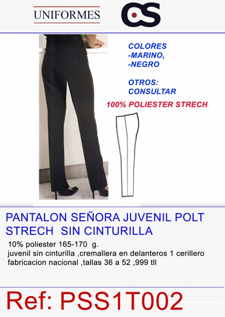 PANTALON SRA JUVENIL TEXT.VRNO