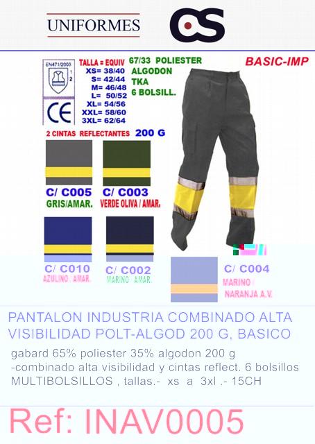 PANT. ALTA VISIB.COMBINADO P15