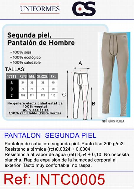 PANTALON SDA PIEL, TERMICO.