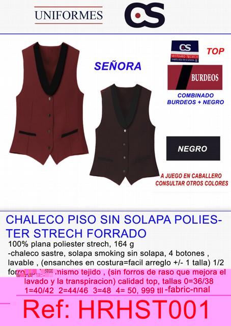 CHALECO SRA.4 B LISO SLAP TLL