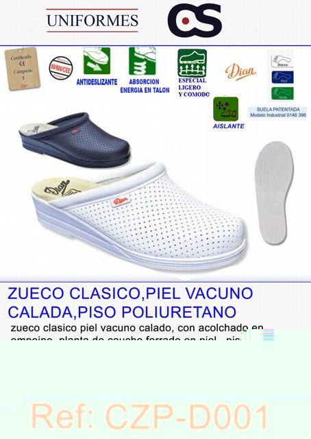 ZUECO PIEL CALADO POLIURETANO