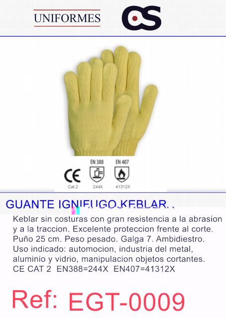 GUANTE KEVLAR IGNIFUGO P1000