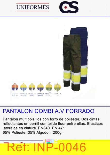 PANTALON MULTIB.FORRADO P15