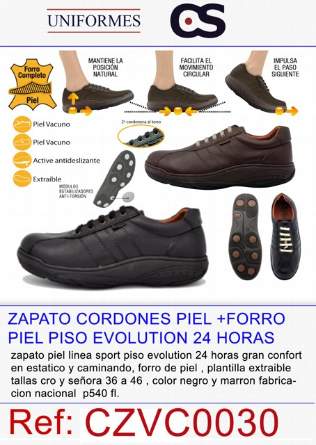 ZAPATO CORDON PIEL EVOLUTION