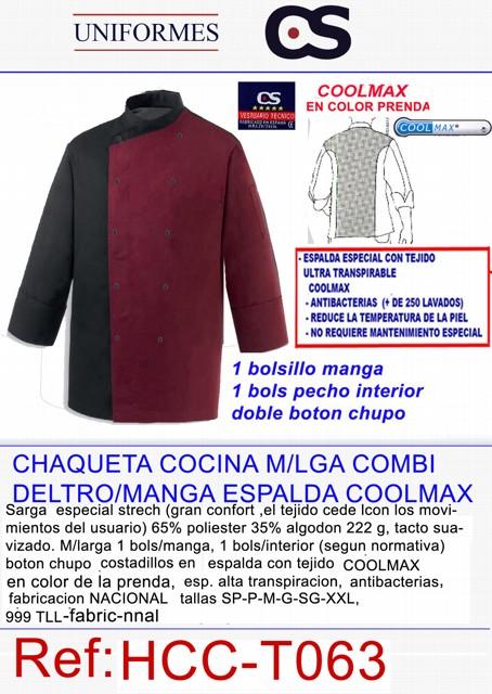 CHAQ. COCINA M/L COOLMAX COMB.