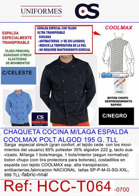 CHAQUETA COC. M/L COOLMAX COL