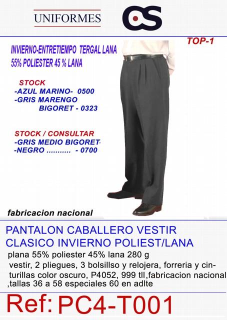 PANTALON TG/LANA INV PZAS TLL