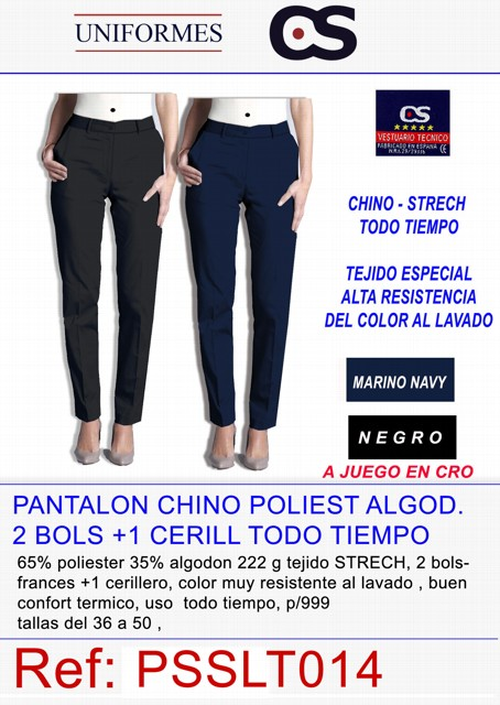 PANTALON CHINO SRA. POLT/ ALG 2 BOLS. P997