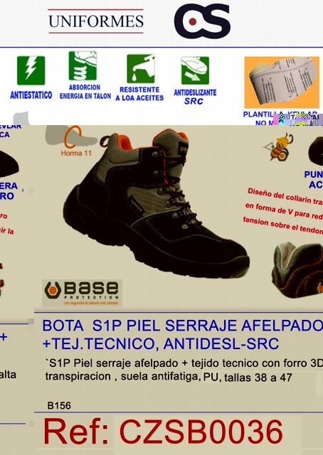 BOTA S1P PIEL SERRAJE AFELP + TEJ. TENC P563