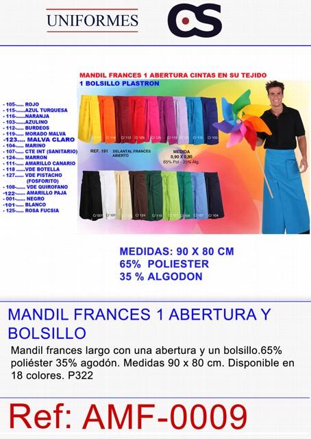 MANDIL FRANCES ABIERTO 1 BOLS. P322