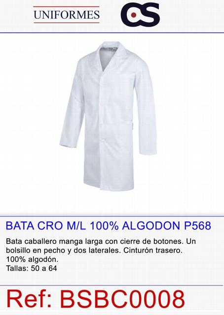 BATA CRO M/L 100% ALGODON P