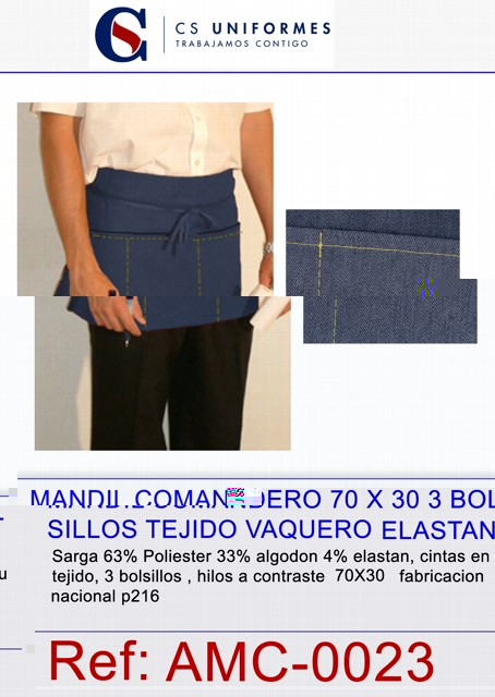 MANDIL CORTO COMAN.3 B COL BBP