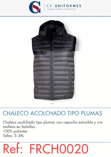 CHALECO ACOLCHADO TIPO PLUMAS P482