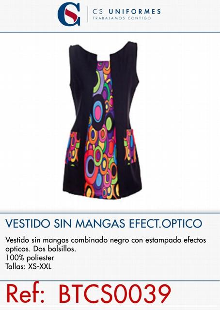 VESTIDO SIN MANGAS EFECTO OPTICO P322