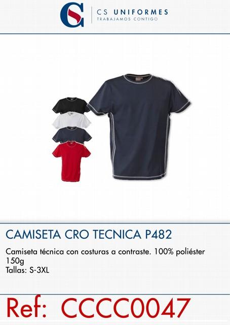 CAMISETA TECNICA COSTURA CONTRASTE P482