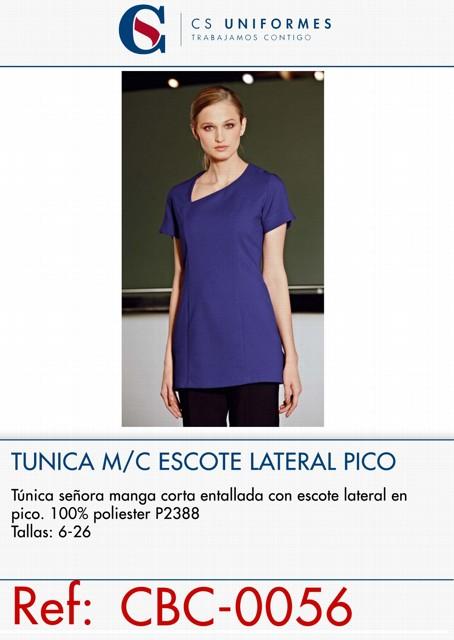 TUNICA SRA M/C ESCOTE LATERAL PICO P2388