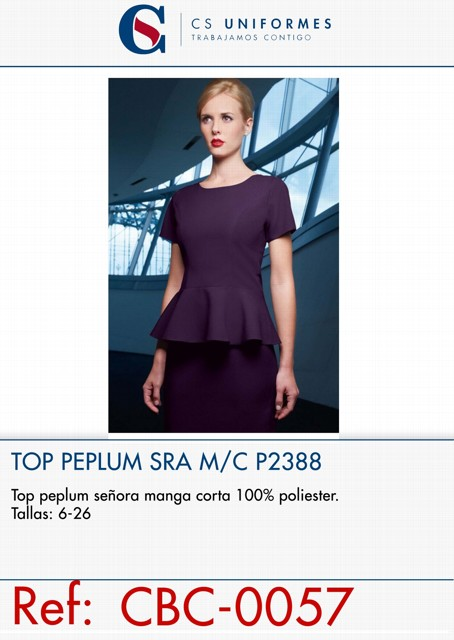 BLUSA SRA M/C PEPLUM P2388