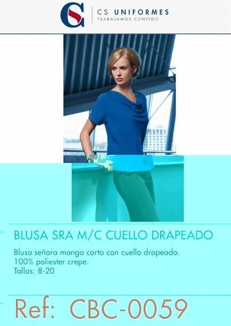 BLUSA SRA M/C CUELLO DRAPEADO