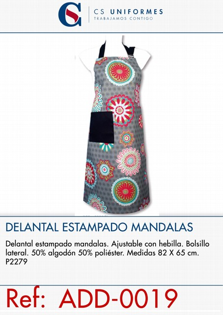 DELANTAL ESTAMPADO MANDALAS P2279