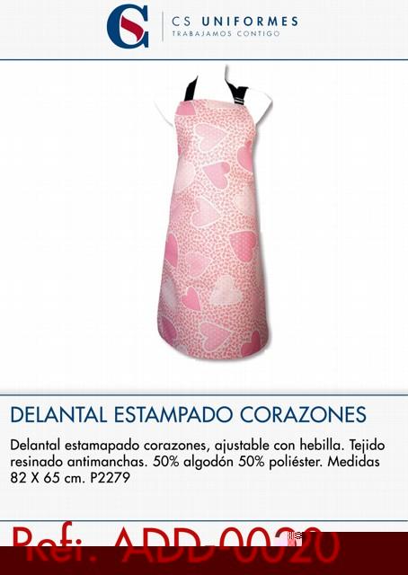 DELANTAL ESTAMPADO CORAZONES P2279