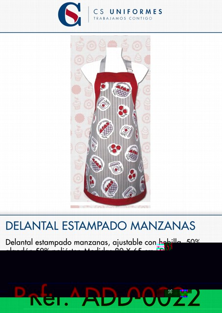 DELANTAL ESTAMPADO MANZANAS P2279