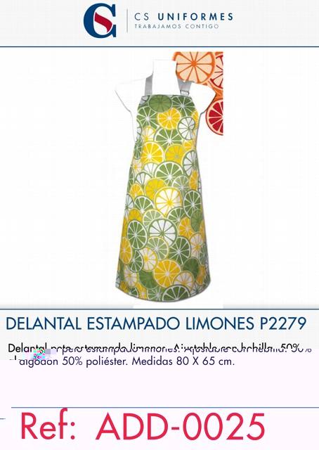 DELANTAL ESTAMPADO LIMONES P2279