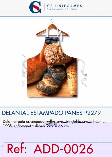 DELANTAL ESTAMPADO PAN P2279