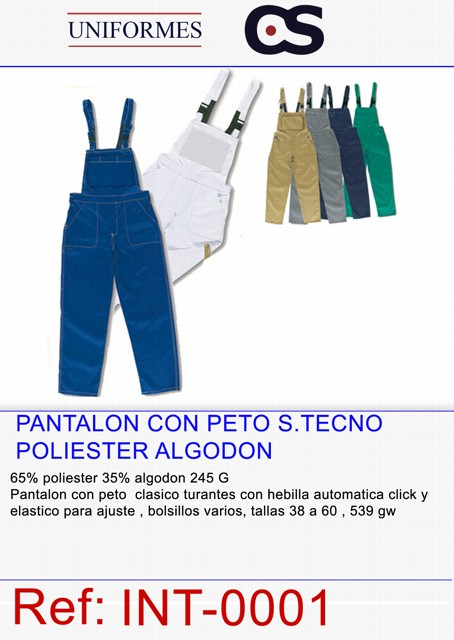 PANTALON PETO TRABAJO P539