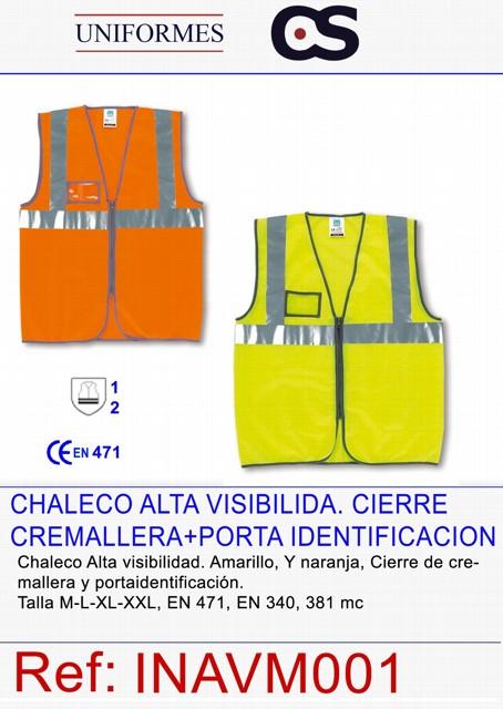 CHALECO AV CREMALLERA+VISOR